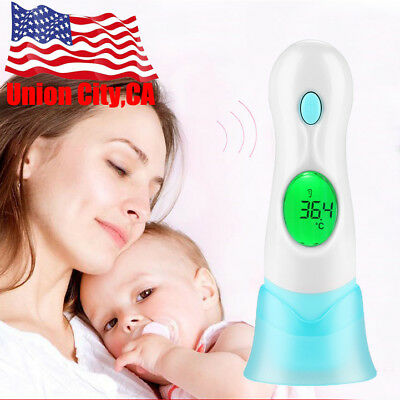 8 in 1 Baby Adult Body Ear Forehead Infrared LCD Digital Thermometer Health Care