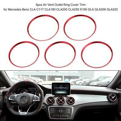5pcs Air Vent Ring Cover Trim for Mercedes Benz CLA250 X156 GLA200 Y9C6
