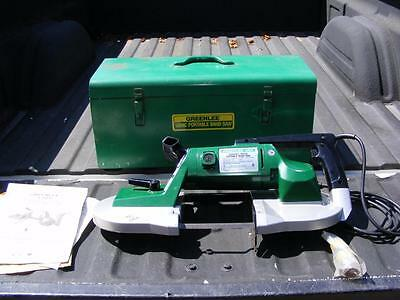Greenlee 1304 Variable Speed Portable Band Saw With Case