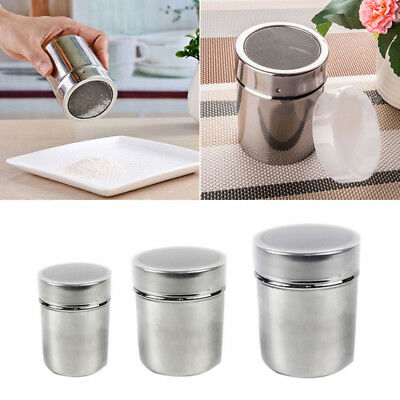 Stainless Steel Chocolate Cocoa Flour Shaker Icing Sugar Powder Coffee Sifter.