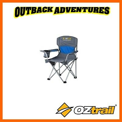 Oztrail Deluxe Junior Arm Chair Blue Kids Camping Chair
