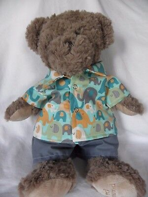 Clothes to fit 15 in Pumpkin Patch teddy shirt and shorts set boys build a bear