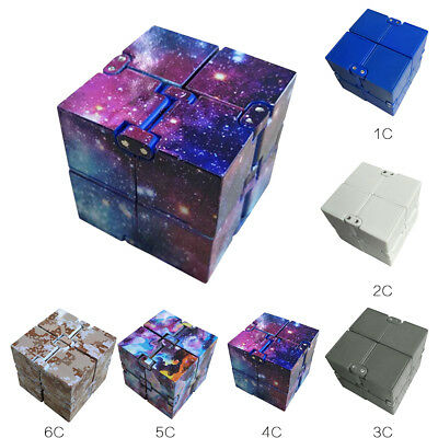 Finger Block Infinity EDC Magic Cube Mini Fidget Anxiety Stress Relief Toy Gift
