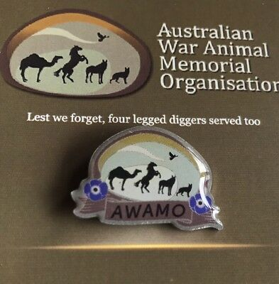 Purple Poppy*Australian War Animal Memorial Lapel Pin * Remembrance Day