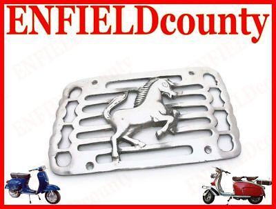 Brand New Vespa Alloy Made Side Panel Grill Running Horse Chrome Finish @aud