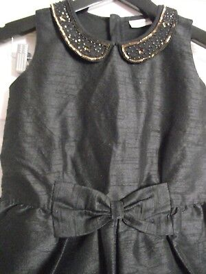 Girls Next Black Beaded Party Playsuit Age 8 Years VGC