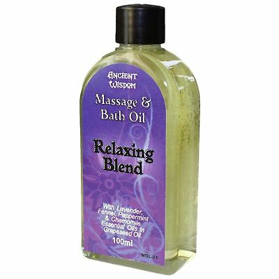 massage oil essential  body relaxing stress aromatherapy