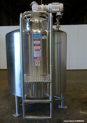 Used- DCI Jacketed Tank, 300 Gallon, 316L Stainless Steel, Vertical. Approximate