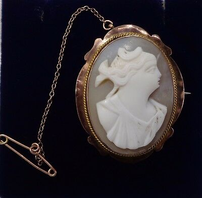 Antique Hand Carved Cameo Cameo Brooch - 28mm x 36mm