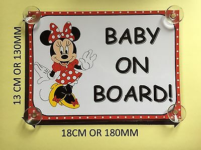 Minnie Mouse Baby On Board Car Laminated Sign