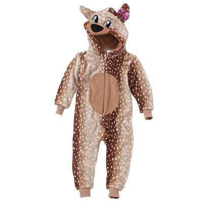 World Book Day Deer 1Onesie Onezi Supersoft Fleece Girls Spot Bambi Jumpsuit