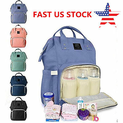 US LAND Mummy Maternity Nappy Diaper Bag Large Capacity Travel Changing Backpack