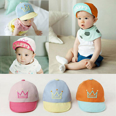 NEW Baby Kids Boys Baseball Cap Hat with letter HAPPY Adjustable