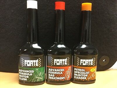 FORTE Petrol Kit comprises 3 x Petrol Engine Treatments (see below for details)