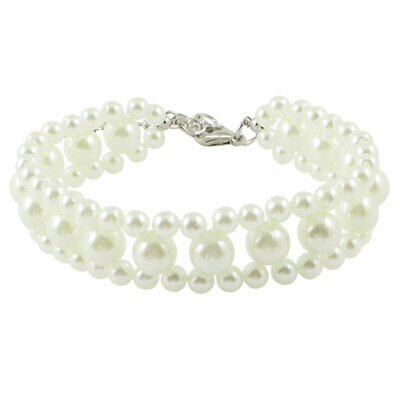 Petit Chien Chat Collier Simulation Pearls Ornement Fermoir Collier S