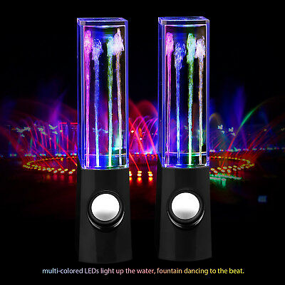 LED Dancing Water Show Music Fountain Light Speaker for iPhone Laptop PC Samsung