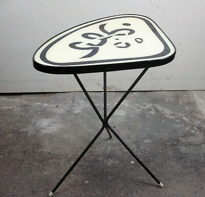 Vintage Small Side Coffee Table Plant stand Tripod Pop Art Andy Warhol style HTF