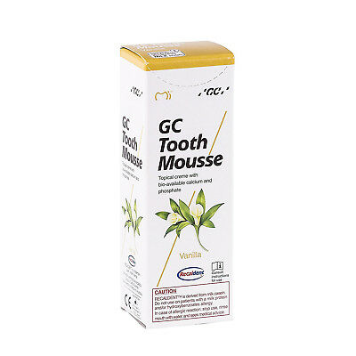 GC Tooth Mousse Vanilla Paste 35ml Topical Cream Recaldent derived from milk