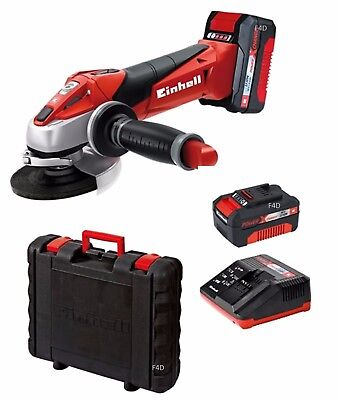 """EINHELL 18V LITHIUM LI-ION 4.5"""" 115mm CORDLESS ANGLE GRINDER + BATTERY & CHARGER"""