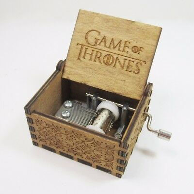 Game of Thrones Inspired Crank Wood Timber Engraved Music Box GOT Brand NEW Xmas