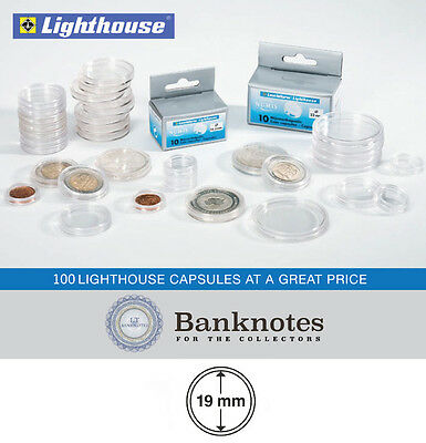 100 Coin Capsules Lighthouse Direct Fit 38MM Holders US Large Dollar Morgan
