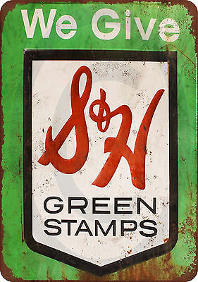 S&H Green Stamps vintage reproduction metal sign 8 x 12 made USA
