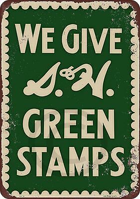 S&H Green Stamps Vintage Reproduction metal Sign 8 x 12