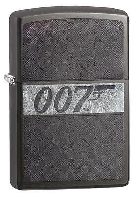 "Zippo ""007-James Bond"" Gray Dusk Finish Lighter, Full Size, 29564"