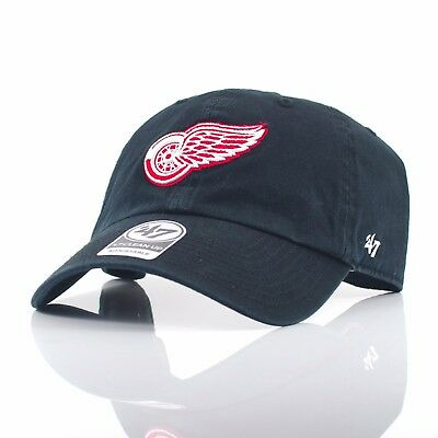 47 Brand NHL 'Clean Up' - Detroit Red Wings Black/Red Curved Peak Adjustable Cap