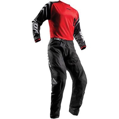 2019 Thor S18 Youth Sector Zones Race Kit Black Red Motocross Mx Kids Bmx Cheap