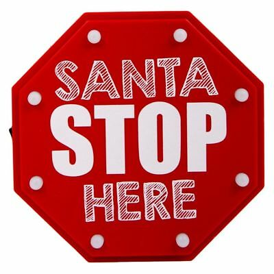 Led Santa Stop Here Sign Outdoor Christmas Yard Display New Lights Lighted