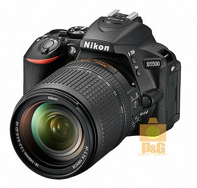 NEW BOXED NIKON D5500 CAMERA BLACK + DX 18-140mm f/3.5-5.6 G ED VR LENS KIT