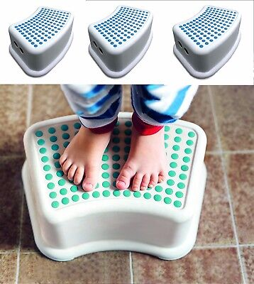 Addis Anti Slip Step Stool Foot Stool Booster Step Base And Foot Plate Blue Whit