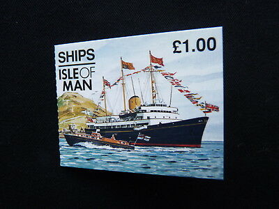 Isle Of Man Stamp Booklet. 1997. Sb45. Ships