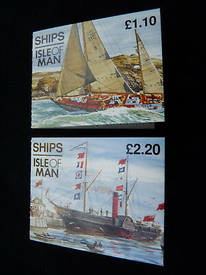 Isle Of Man Stamp Booklet. 1993. Sb32 & Sb33. Ships