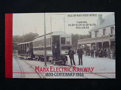 Isle Of Man Prestige Stamp Booklet. 1993. Sb34. Manx Electric Railway Centenary