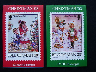 Isle Of Man Stamp Booklet. 1993. Sb35 & Sb36. Christmas