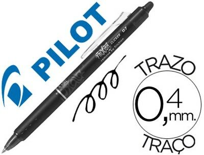 12 Boligrafos Pilot Frixion Clicker Borrable 0,7 Mm Color Negro 53682