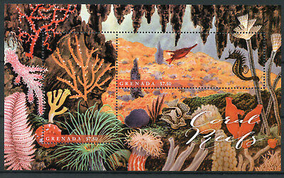 Grenada 2017 MNH Coral Reefs 2v S/S II Corals Fish Fishes Marine Stamps