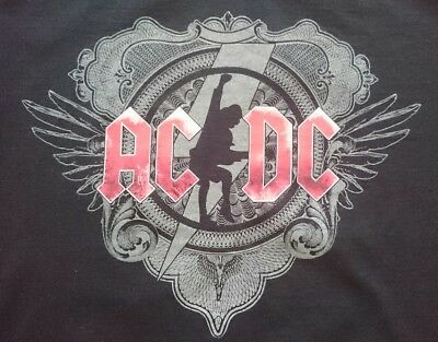 Official 2008-09 AC/DC Black Ice Tour Shirt XL Extra Large Angus Malcolm Young