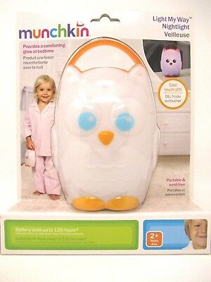 Munchkin Nightlight Light My Way Lamp Kids Portable Cool Touch LED Owl Shape