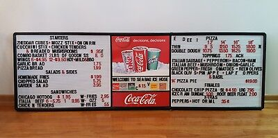 6' Foot Coca-Cola Menu Board Advertising Wall Sign w/ Lots of Letters & Numbers!