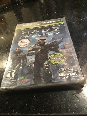 Halo Wars Platinum Hits  Xbox 360 Brand New Factory Sealed Rips On Corners Seal