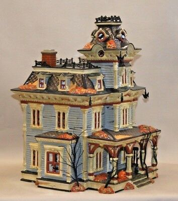 pre owned dept 56 snow village halloween grimsly manor