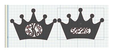 Princess Crown NAME OR MONOGRAM MDF Craft 32 X 24 inches DIY  wall decor