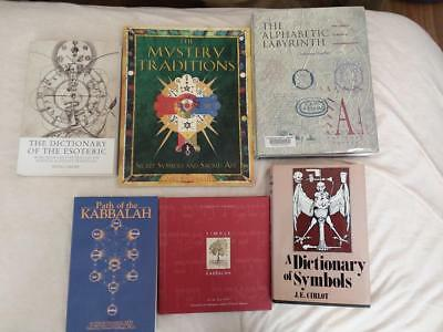 LOT 6 Books: kabbalah occult esoteric symbols mystery traditions mystical secret