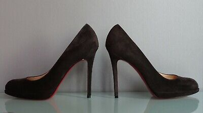 quality design aa084 5e07e NIB RARE CHRISTIAN Louboutin New Simple 120 gray grey suede pumps Africa  40.5
