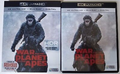 War For The Planet Of The Apes 4K Ultra Hd Blu Ray 2 Disc Set + Slipcover Sleeve