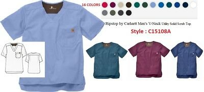 Carhartt Men's Scrubs Top Style C15108A V-Neck Top ( All colors & Sizes )