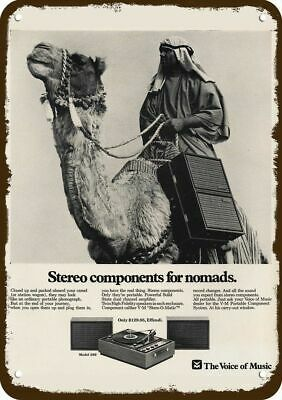 1968 THE VOICE OF MUSIC Model 369 Stereo Vintage Look Metal Sign - ARAB & CAMEL